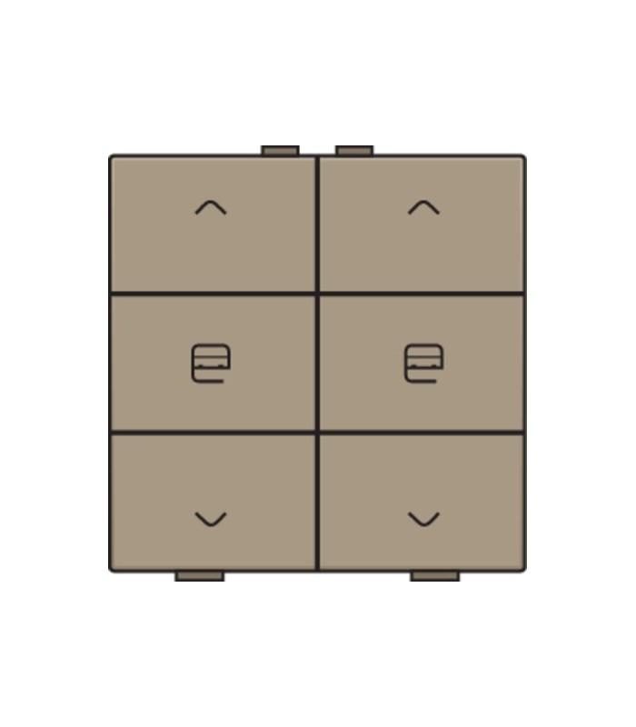 Tweevoudige motorbediening, bronze - 123-51036 - Niko Home control