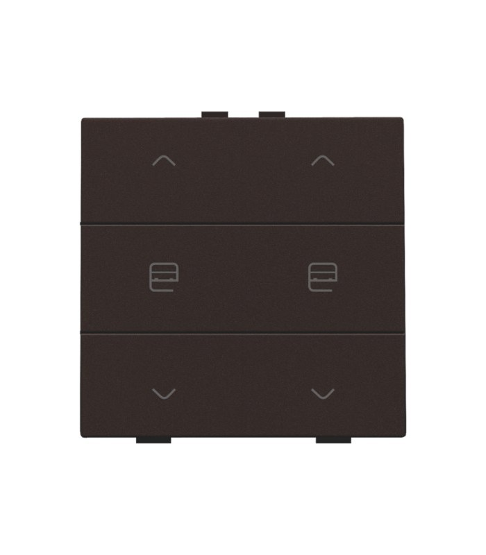 Tweevoudige motorbediening, Dark Brown - 124-51036 - Niko Home control