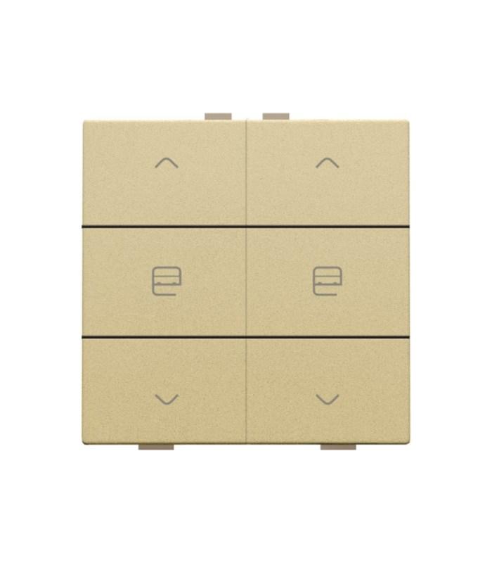 Tweevoudige motorbediening, Alu-Look Gold - 221-51036 - Niko Home control
