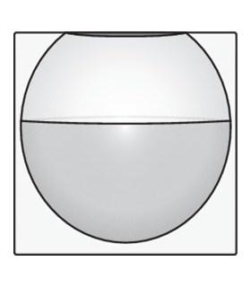 Afwerkingsset voor binnenbewegingsmelder, White Coated - 154-55511