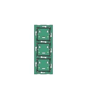 Drievoudige verticale muurprint, centerafstand 71mm