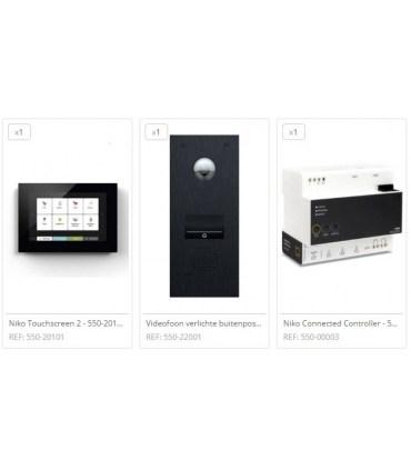 Home Control Videofoon 1 drukknop - pakket 2