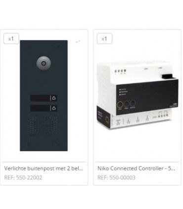 Home Control Videofoon pakket 2 drukknoppen - pakket 1