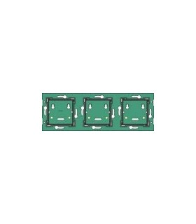 3-fold horizontal wall-mounted printed circuit board, center distance 71mm - 550-14030