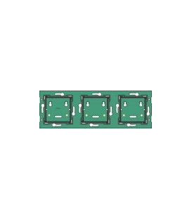 Drievoudige horizontale muurprint, centerafstand 71mm