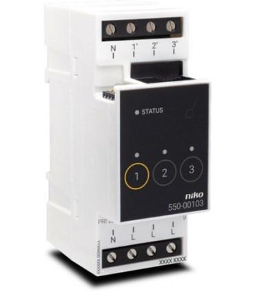 Niko Home Control Schakelmodule drievoudig - 550-00103