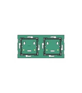 2-fold horizontal wall-mounted printed circuit board, center distance 71mm - 550-14020
