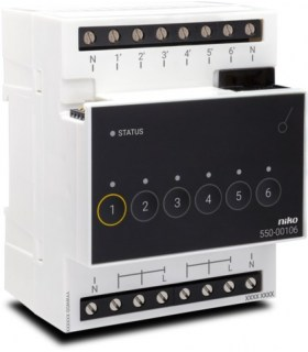 Niko Home Control Schakelmodule zesvoudig - 550-00106
