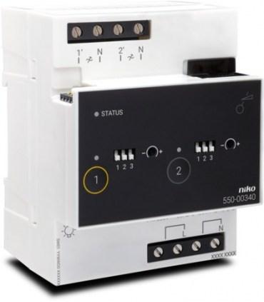 Niko Home Control Dimming module (2x400W) - 550-00340